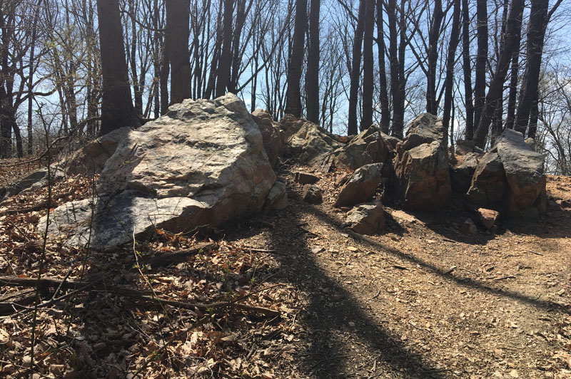 Photo of an outcropping of boulders
