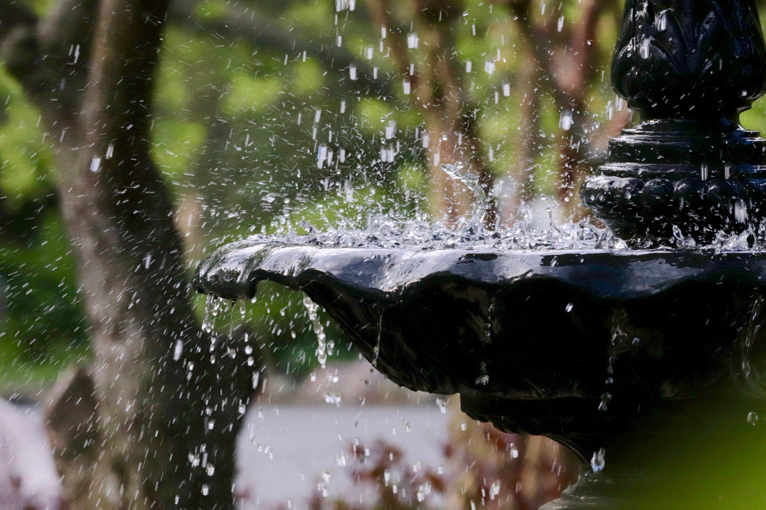 Take a break. Stare into the fountain. It helps.