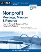 """cover of """"Nonprofit Meetings, Minutes and Records"""""""