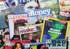 photo of many overlapping magazine covers